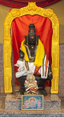 worshiped: Lord Ayyappa, the third son of Lord Shiva and the mythical enchantress Mohini, is a popular Hindu deity worshiped mainly in South India. Lord Ayappa grants refuge to His devotees and protects them from all evils.