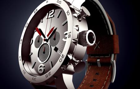 watch isolated on black Standard-Bild