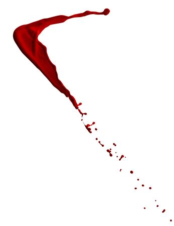animal blood: splash of blood with clipping path isolated on white