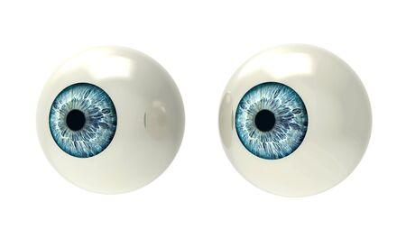 globo ocular: dos globos oculares aislados en blanco de nuevo terreno