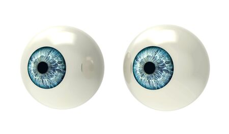 two eyeballs isolated on white back ground Stock Photo