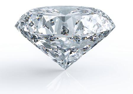 白バック グラウンドで分離された 1 つのダイヤモンド
