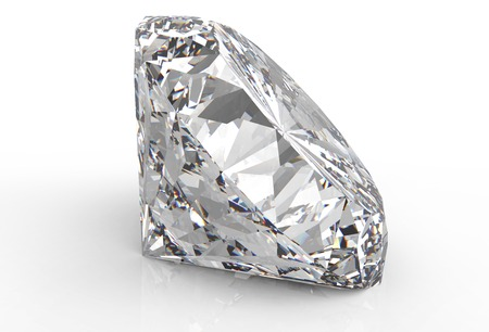 diamonds isolated: one diamond isolated on a white back ground