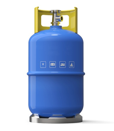 Blue gas container isolated on a white back ground.