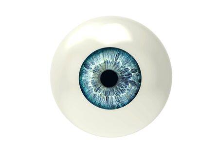 하나의 안구는 흰색 다시 땅에 고립 스톡 콘텐츠