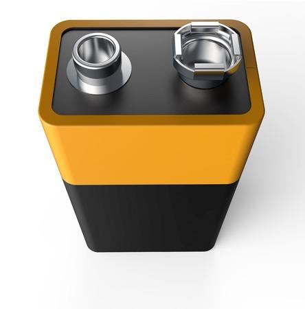 9v battery: 9V battery isolated on a white back ground