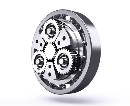 planetarnych: planetary gear isolated on a white background.