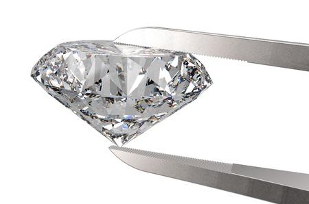 tweezers: Diamante en pinzas aisladas en un blanco de nuevo terreno