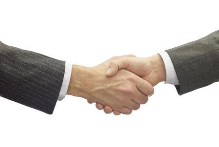 dando la mano: darse la mano en un buen negocio aisladas en blanco