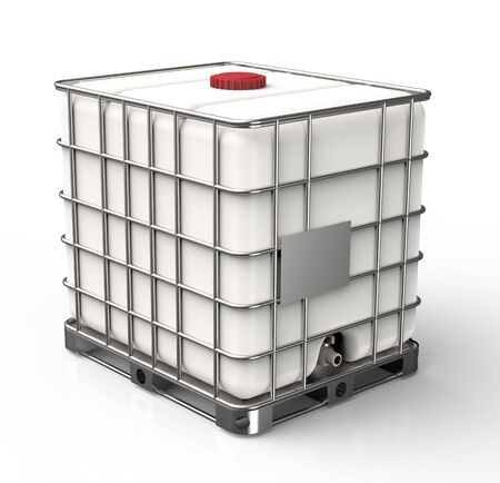 Bulk liquid container isolated on a white background 版權商用圖片