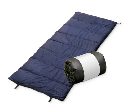 Sleeping bag isolated on a white background. Standard-Bild