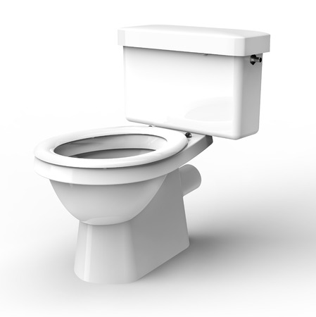 white toilet isolated on a white back ground. Banque d'images