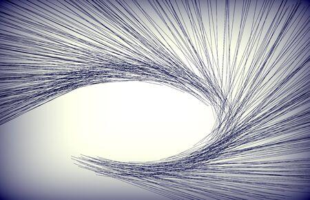 lineas onduladas: l�neas abstractas aisladas en una tierra trasera. Foto de archivo