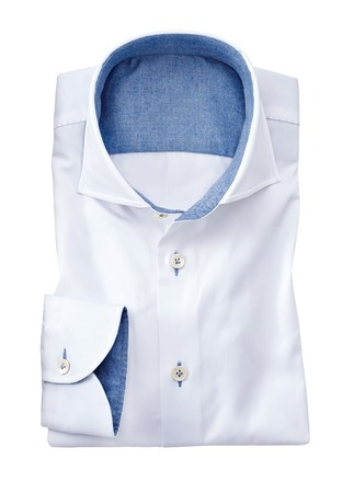 white collar: mens shirt isolated on a white background