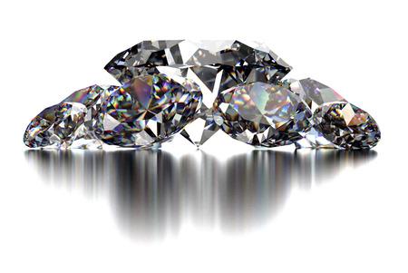 diamante: diamante aislado en fondo blanco con trazado de recorte
