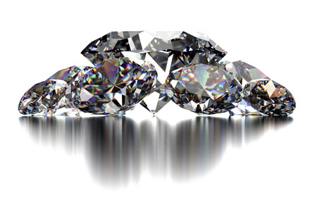diamond cut: diamond isolated on white background with clipping path Stock Photo