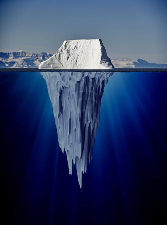 iceberg with underwater view taken in greenland