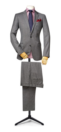 mens suit isolated on white. with a clipping path. Imagens - 44908313