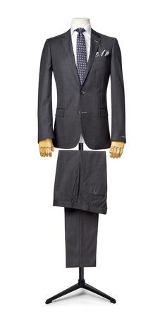 mannequin: le costume mens isolé sur blanc. avec un chemin de découpe. Banque d'images