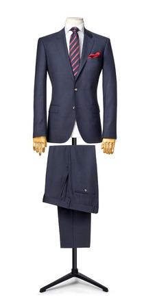 mannequin: le costume mens isol� sur blanc. avec un chemin de d�coupe. Banque d'images