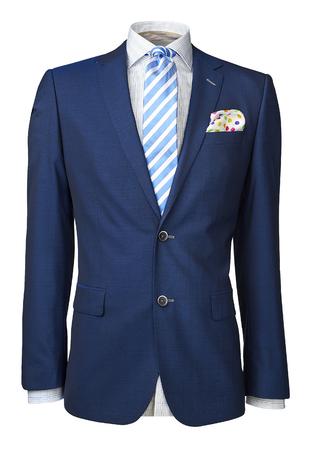 Herren Anzug isoliert auf weiß. mit einem Beschneidungspfad. Standard-Bild - 44908628