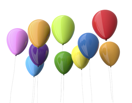 colorfull: colorfull balloons isolated on white. Stock Photo