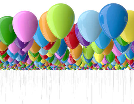 colorfull: colorfull balloons isolated on white