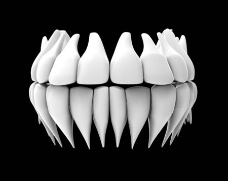 image of white teeth isolated on black 版權商用圖片