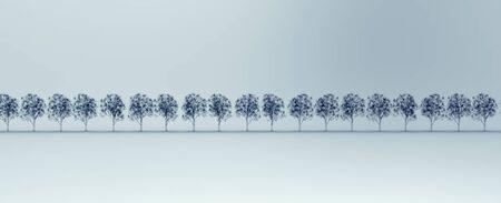 roentgen: roentgen image of trees isolated.