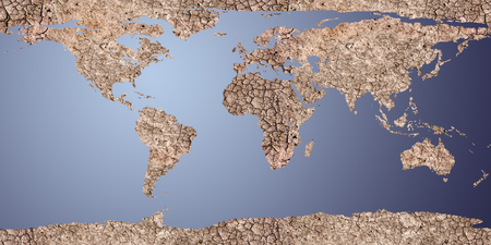 cracked earth: dry earth displayed as a 2d map, For map used open source http:visibleearth.nasa.govview_rec.php?id=2433