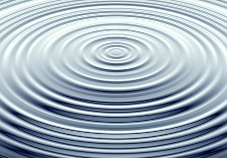 水は青い水の中の界で波紋します。