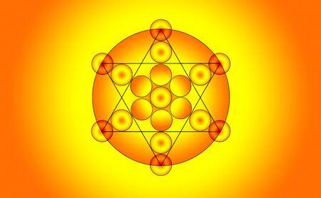 pentacle: illustration of a pentagram symbol Stock Photo