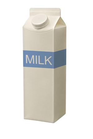 carton de leche: caja de cartón de leche aislado en blanco.