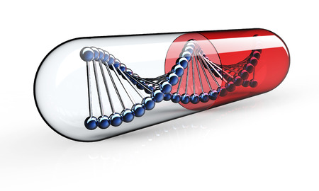genetic: Genetic Medicine isolated on a black back ground