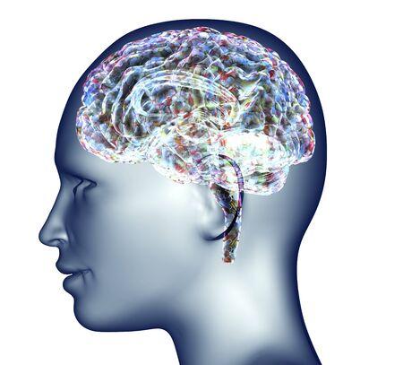 X-ray des menschlichen Kopfes mit Pillen und Drogen für Gehirn .. Standard-Bild - 53794079