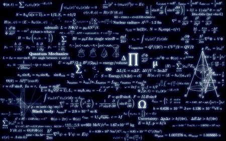 teorema: tablero de matemáticas negro con fórmulas