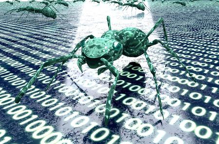 digitale Sicherheitskonzept Computer-Fehler in der elektronischen Umgebung.