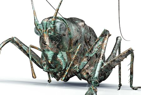 computer bug: digital safety concept electronic computer bug isolated, 3D illustration Stock Photo