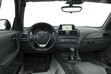 Die innerhalb oder zwischen den von einem modernen Auto, 3D-Darstellung Standard-Bild - 58962531