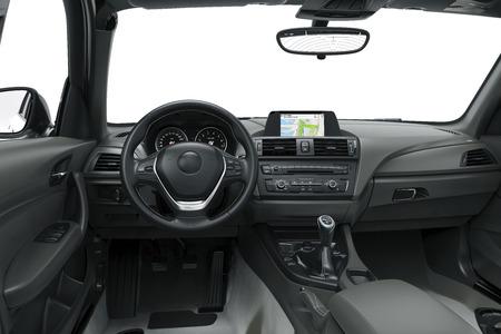 wewnątrz lub wnętrze nowoczesnego samochodu, ilustracji 3d Zdjęcie Seryjne