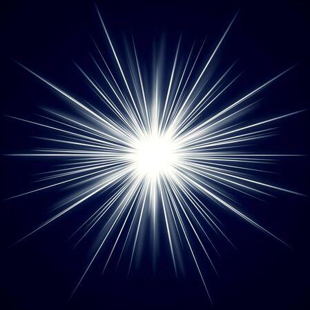 starlike: burst of light in a starlike shape