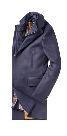 mens overcoat isolated on white.