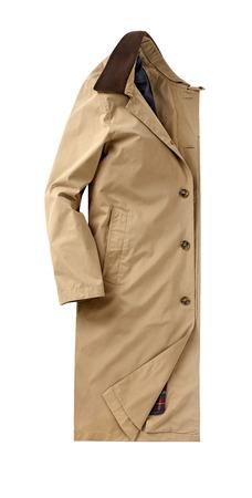 overcoat: mens overcoat isolated on white.