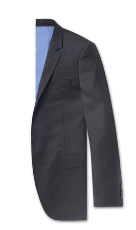 tailored: men business jacket isolated on white.