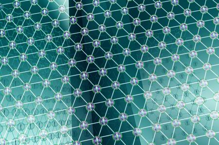 Blockchain technologie used in digital computer networks, clipping path, 3d illustration 版權商用圖片