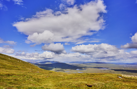 schottish highlands landscape with cloud in the sky Imagens