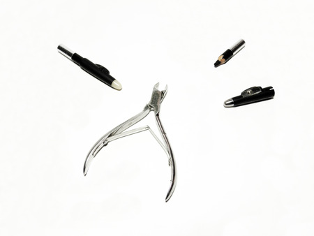 nipper: nail Nipper and eyeliners, for manicure Stock Photo