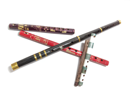 a collection of folk flutes