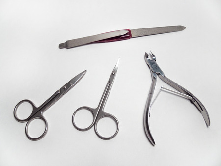 nipper: manicure set: nail Nipper, straight scissors; cuticle scissors nail scissors bent, nailfile