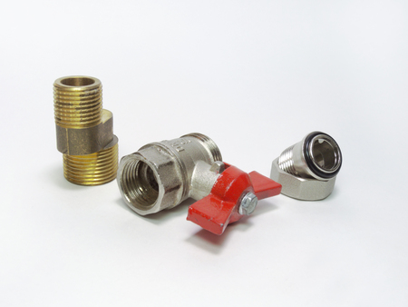 Ball valve, faucet eccentric and connection of threaded fittings
